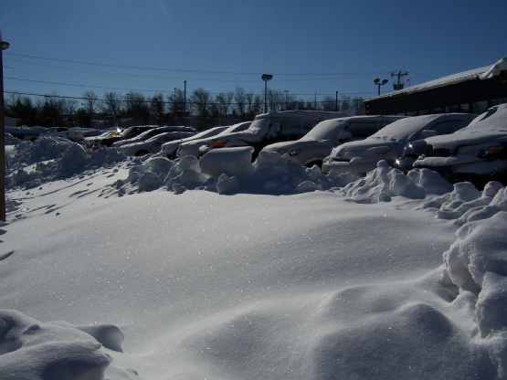 car dealers loses sale from snow