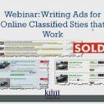 Writing ads for classified sites that work! – Recorded Webinar